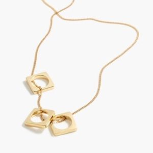 J. Crew Cut Out Ring Pendant Necklace